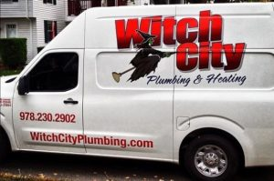 witch city plumbing truck